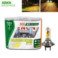 XENCN H7 12V 55W P43t 2300K Halogen Headlihgt Ersetzen Upgrade Super Gelb Licht Auto Lampen 30% Mehr licht Freies Verschiffen 2Pcs|Autoscheinwerferglühbirne (halogen)|Kraftfahrzeuge und Motorräder -