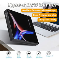 External DVD Drive Optical Drive USB 3.0 Type C High Speed CD ROM Player CD RW Burner Writer Reader Recorder for Laptop PC