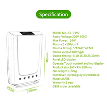 Plasma Ozone Generator Air Purifier vegetable washer  600mg/h Detoxification Disinfection Ozone Sterilizer water cleaner