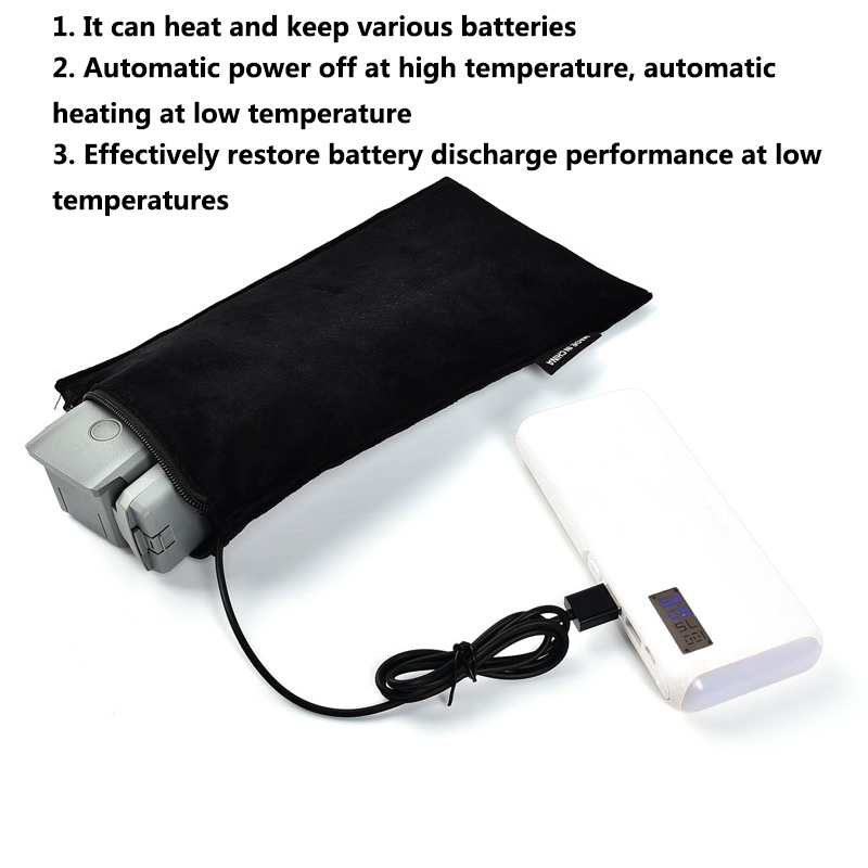 Heat-Resistance Drone Battery warmer bag Heating bag Heat-Resistance Explosion-Proof for DJI Mini 2/AIR 2 RC model battery