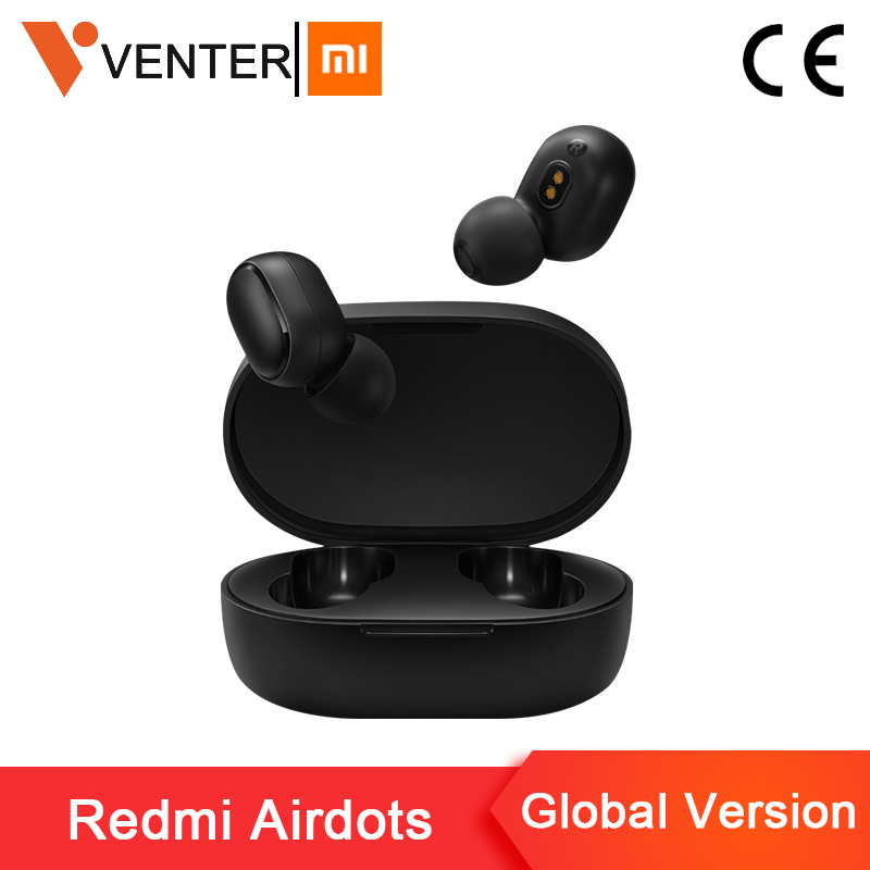 2019 New Xiaomi Redmi Airdots TWS Bluetooth Earphone Stereo Bass Bluetooth 5.0 Earphones With Mic Handsfree Earbuds AI Control
