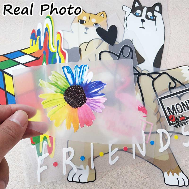 Linda niña pequeño Animal perro gato parche para la ropa pegatina para niños parches DIY bebé niños camiseta vinilo de transferencia de calor