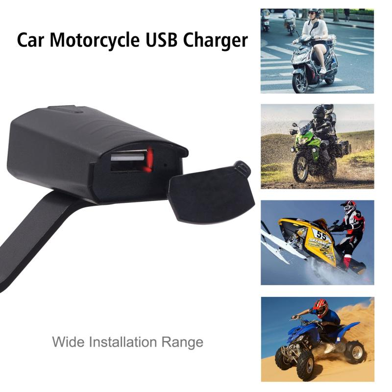 Input Voltage 8-32V Output 5V/1.2A Current Motorcycle Electric Car Waterproof Mobile Phone USB Charger With Indicator Light