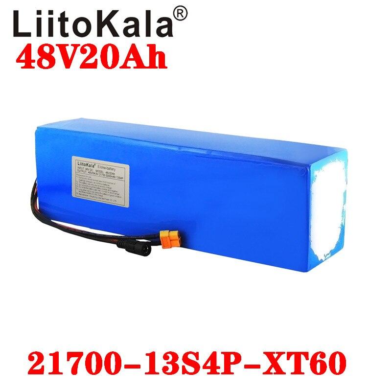 LiitoKala 48V 20Ah 21700 5000 MAh 13S4P Ebike Pin 20A BMS 48V Lithium Pin Dành Cho Cho Điện xe Đạp Xe Điện