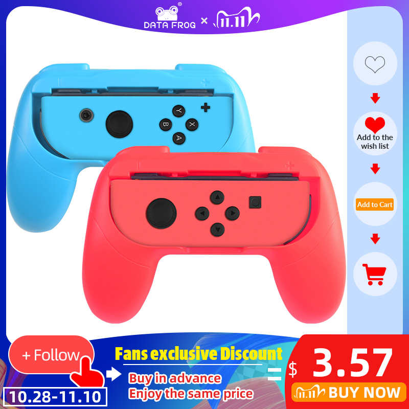 DATA FROG 2 PCS Left Right Joycon Bracket Stand Holder For Nintendo Switch NS Joy-Con Controller Gamepad Hand Grip Accessories