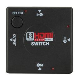 1PCS 3 input 1 Output Mini 3 Port HDMI Switch Switcher Splitter Box Selector For HDTV 1080P Video HDMI KVM Switcher Adaptor