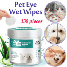 Wet-Towel Pet-Cleaning-Wipes Tear Dog Cat 130pcs Stain-Remover Grooming Pet-Eye-Ear Gentle