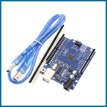 цена на S ROBOT UNO R3 CH340G+MEGA328P Chip 16Mhz For Arduino UNO R3 Development board + USB CABLE EC13