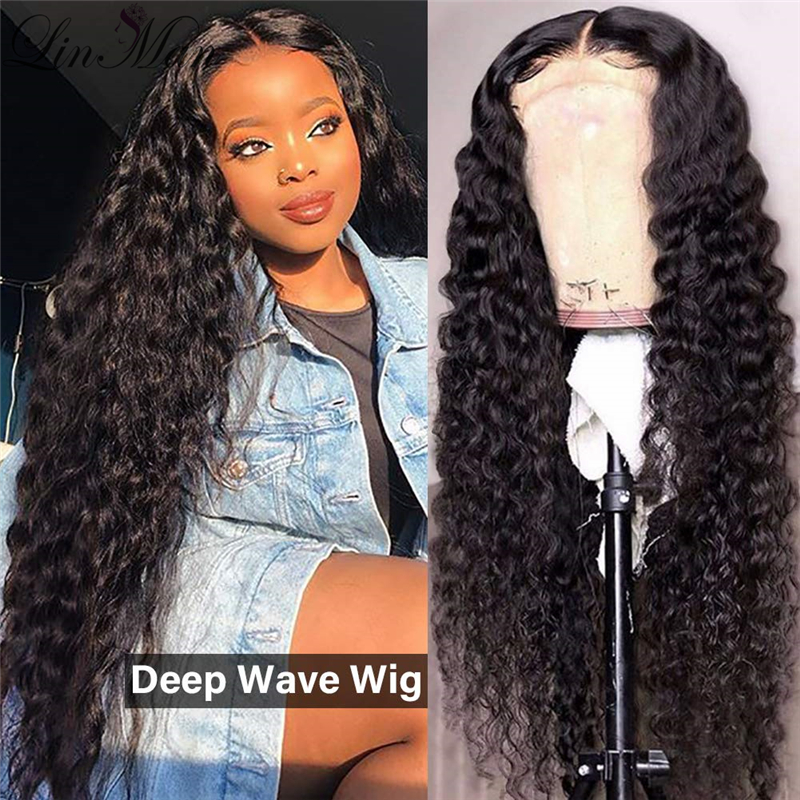 Curly Human Hair Wigs Brazilian Non-Remy Hair Lace Front Human Hair Wigs Baby Hair Pre-Plucked