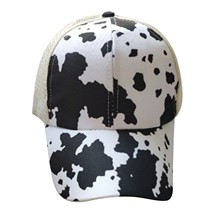 Cap Unisex Baseball-Cap Hats Visors Ponytail Trucker Retro Fashion Summer Women Print