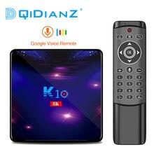 DQiDianZ K10 Android 9.0 Smart TV Box S905X3 czterordzeniowy 4GB RAM 64G 128G ROM 2.4G 5G WIFI 8K HD 2.1 zestaw odtwarzacza multimedialnego Top Box
