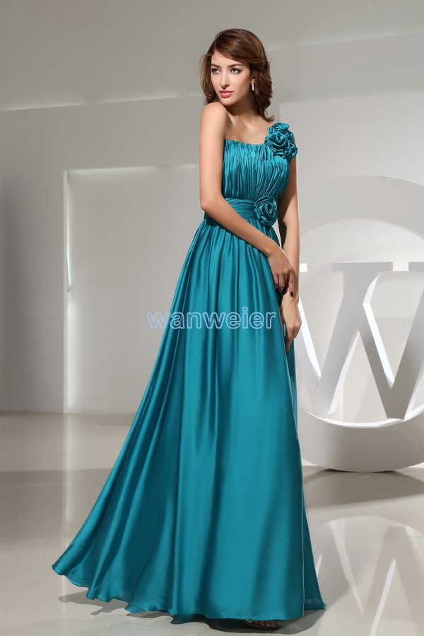 Free Shipping Maxi Dresses Long 2016 Women's Formal Vestidos Formales One Sholder Plus Size Modest Bridal Bridesmaid Dresses