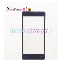 Novaphopat preto touchscreen para bq BQ-5057 strike 2 5057/BQ-5005L bq5005l 5005l/BQ-5203 6015l tela de toque digitador da tela