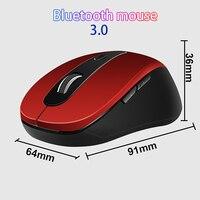 BT 3.0 & 2.4GHz sem fio do mouse 1600DPI Ajustável Opcional Mouse de Computador Óptico Ergonômico Bluetooth para notebook laptop|Mouse|Computador e Escritório -