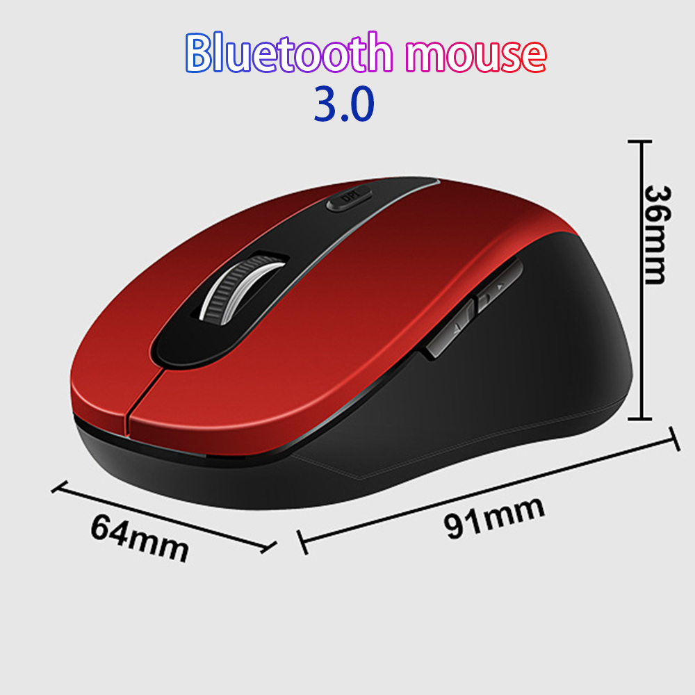 Wireless Mouse 1600DPI Adjustable BT 3.0 & 2.4GHz Optional Optical Computer Mouse Bluetooth Ergonomic For Notebook Laptop