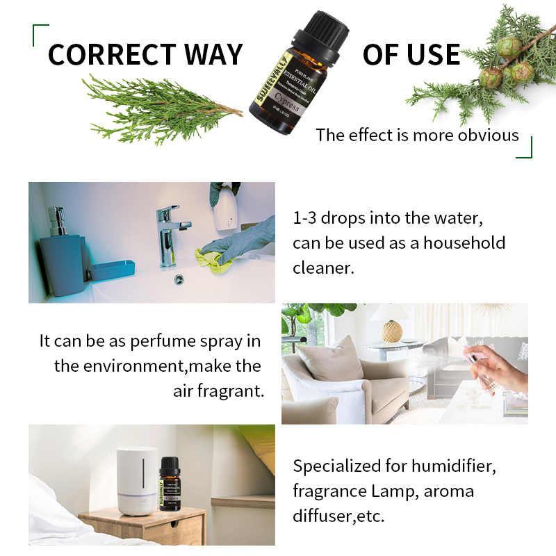 Huile essentielle de cyprès 10ml pour diffuseur brûleur organique soulager le Stress désodorisant ménage nettoyage humidificateur huile essentielle
