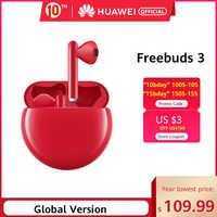 In stock Original HUAWEI FreeBuds 3 FreeBuds3 Bluetooth Earphone TWS Wireless Earphone Kirin A1 Chip ANC Function Original