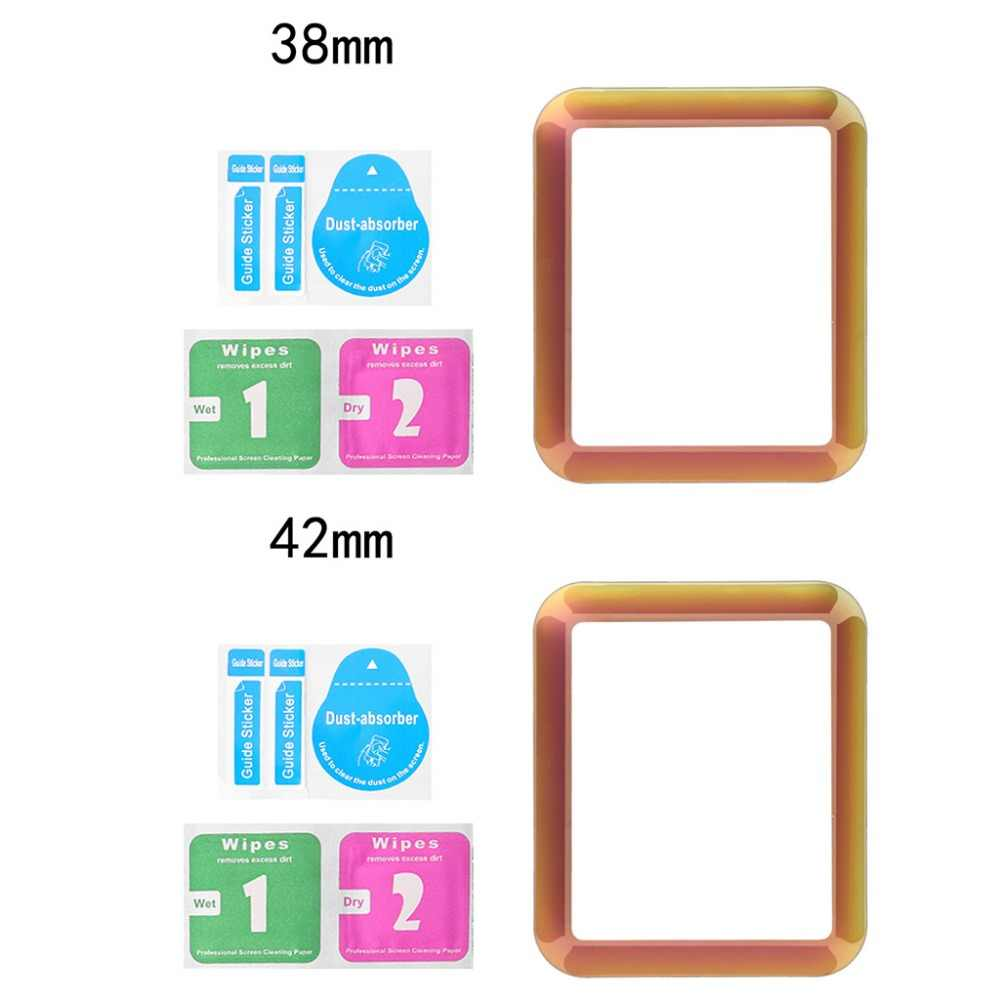 9H 3D Curved Full Coverage Tempered /Soft TPU Glass Screen Protective Film For Apple Watch iWatch Series 1/2/3/4 38/ 42/40/44mm