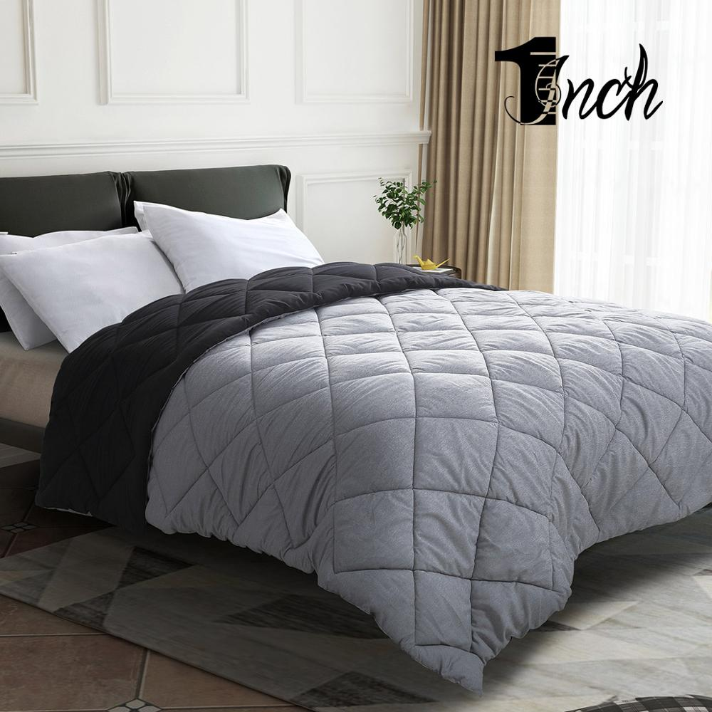 1inchome King/Queen/Full/Twin Size Comforters goose down duvet home linens ultra soft blanket in bedroom furniture christmas