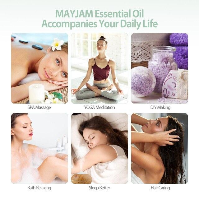 28pcs Pure Natural Essential Oils Gift Set Massage Shower Diffuser Aroma Oil Lavender Vanilla Sage Jasmine Rose Stress Relief 5