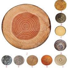 Противоскользящий ковер Ouneed, деревянный детский игровой круглый ковер для дома, коврик для гостиной, пола, йоги, впитывающий кухонный коврик#45