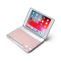 Portable Smart Bluetooth Keyboard Cases for Apple iPad Mini 4 7.9 inch Tablet Case with Keyboard LED Backlight