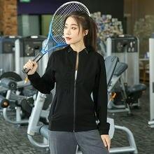 Женская свободная толстовка с длинным рукавом для бега фитнеса
