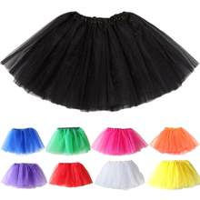 Fashion Cute Kids Girls Solid Color Girl Tulle Little Princess Fancy Dancewear Ballet Dance Party Tutu Skirt Costume One Size Ne(China)