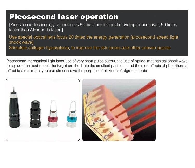 Fornecimento da fábrica 755nm picolaser laser portátil
