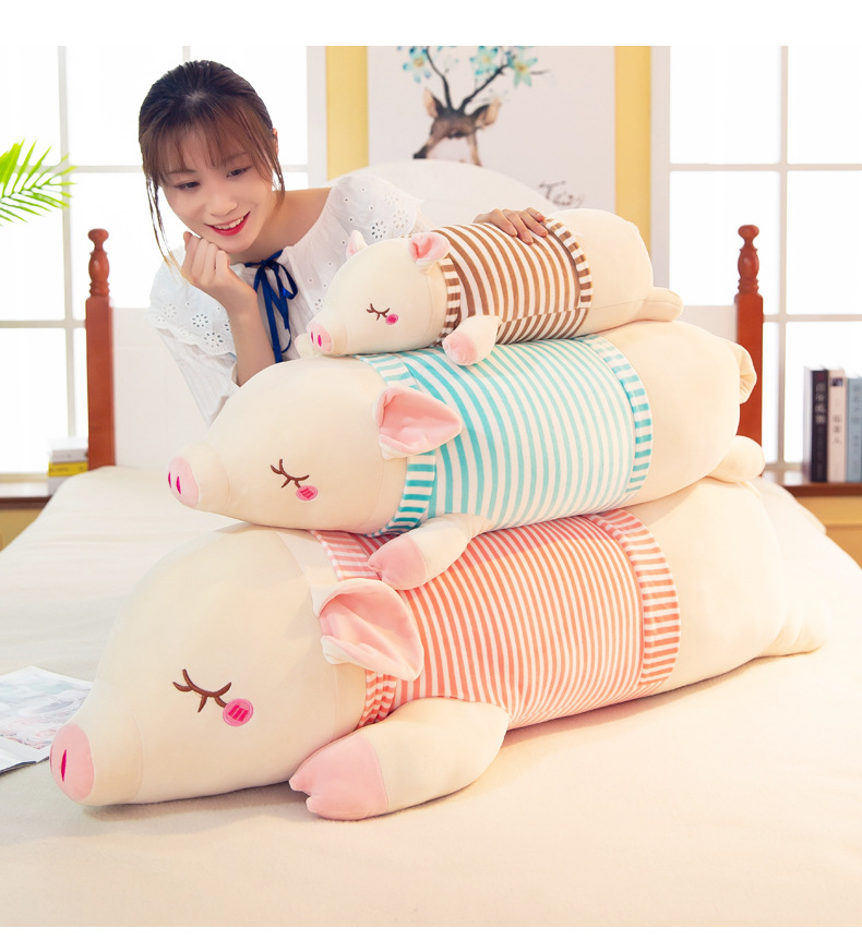 30-65CM Plush toys very soft dress doll pig pillow cute birthday gift girl Stuffed animal cartoon plush toy WJ085