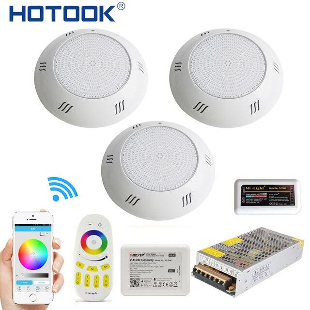 Hotook 水中ライト wifi led プールライト rgb 2.4 グラムキット樹脂充填に foco PAR56 piscina ランプタイマー調光アプリ制御