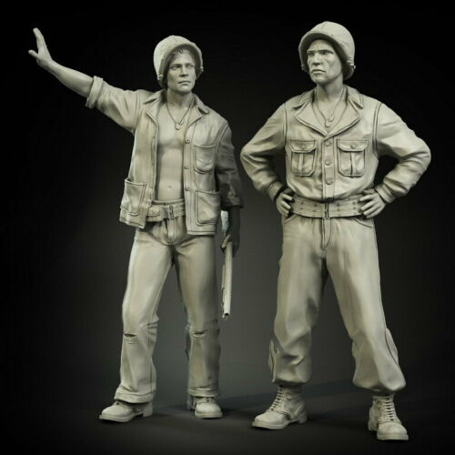 1/35  Ancient US Tankers Set   Officers  Include 2 Resin Figure Model Kits Miniature Gk Unassembly Unpainted
