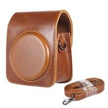 Классическая винтажная Компактная сумка из искусственной кожи чехол для Fujifilm Instax Mini 70 мгновенная пленка камера с плечевым ремнем коричневый
