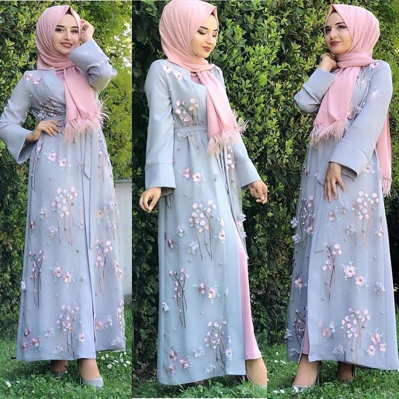 Abaya Kimono Muslim Cardigan Hijab Dress Turkish Islamic Clothing Abayas For Women Caftan Dubai Kaftan Oman Robe Djelaba Femme(China)