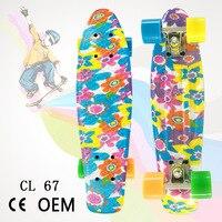 New Style Adult Single Rocker Four Wheel Fish Skateboard Brush Street Drift Banana Skateboard Multi color Selectable