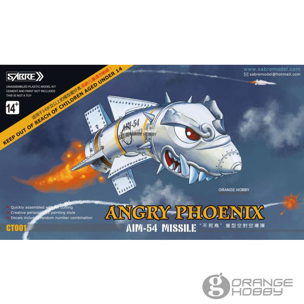 OHS SABRE CT001 Angry Phoenix AIM-54 Missile 2Pcs/Set Resin Hobby Assembly Model Kits image