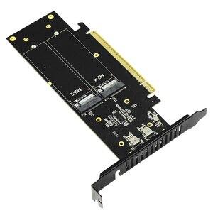 Image 5 - JEYI iهايبر m.2 X16 إلى 4X PCIE3.0 GEN3 X16 إلى 4 * بطاقة غارة PCI E VROC بطاقة غارة فرط M.2X16 M2X16 4X X4 رائد