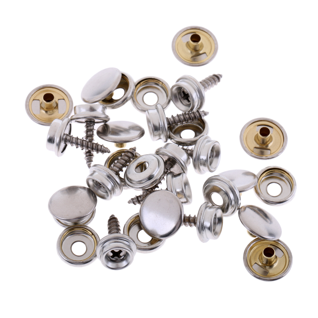 30pcs Fabric Snap Fastener Stainless Canvas Cap Screw Kit High Quality Accessory Parts Suitable For Tent Boat Marine Canvas