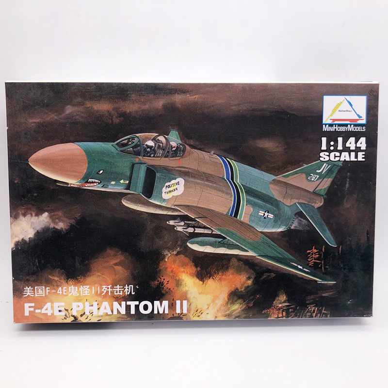 1:144 USA F-4E PHANTOM II Fighter America Air Force Aircraft Military Assembly Aircraft Model