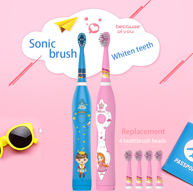 UBALUN Electric Toothbrush Sonic Rechargeable Tooth Brush MAF8600 Electric Children Electric Brush 4 Oral Toothbrush Attachments image