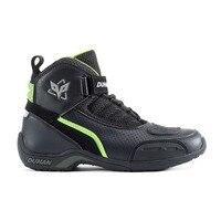 DUHAN-Botas de Moto de malla para hombre, zapatos de Motocross todoterreno, botas para motocicleta, color blanco y negro, para verano