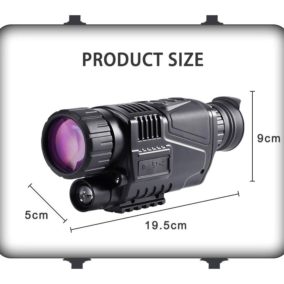5X40 Monokulare Nachtsicht Infrarot Nacht-Vision Kamera Military Digital Monokulare Teleskop Nacht Jagd Navigation Gerät