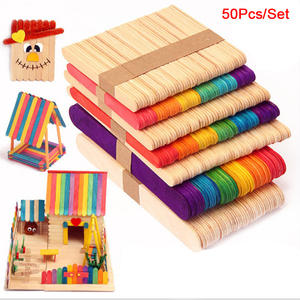 Wood-Sticks Diy-Craft Party-Decor Cake-Making Hot 50pcs for Barbecue-Maker Popsicle