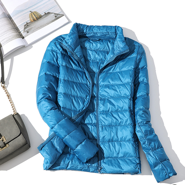 Blouson d'automne en duvet en velours pour femmes, blouson d'automne basique, manteaux à capuche en velours pour femmes, collection hiver 2020 3