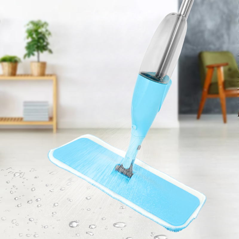 Shebaking Water Spray mop floor cleaning with microfiber pad replace solid flat mop for household cleaning Home kitchen tool