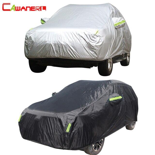 Cawanerl di Copertura Auto Piena Impermeabile All Weather Sun Pioggia Neve Protezione Anti Uv a Prova di Polvere Allaperto Suv Auto Coperture Universale