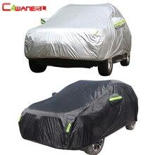 Cawanerl tam araba kılıfı su geçirmez tüm hava güneş yağmur kar koruma Anti UV toz geçirmez dış mekan SUV oto evrensel