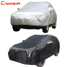 Cawanerl غطاء سيارة كامل مقاوم للماء جميع الطقس الشمس المطر الثلوج حماية مكافحة الأشعة فوق البنفسجية الغبار برهان في الهواء الطلق SUV السيارات يغطي العالمي