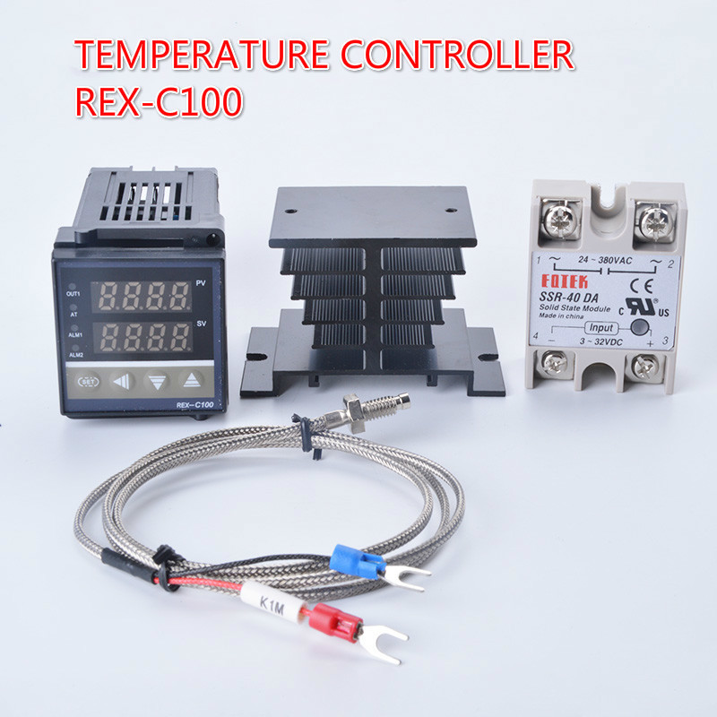 Digital PID Temperature Controller Thermostat REX-C100 220V Thermocouple K Relay