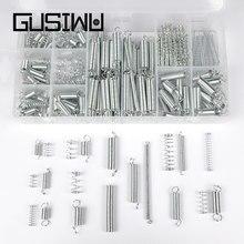 GUSIWU – Kit d'assortiment de fils à ressort, 200 pièces, Extension de ressort de Compression zingué pour petits projets réparations